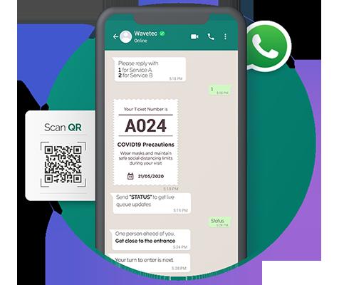 Virtual Queuing Via WhatsApp